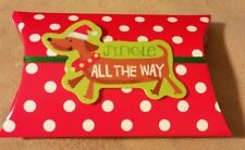 """Jingle All The Way"" Set of 3 Dachshund Dog Christmas Holiday Gift Card Holders"