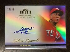 ALEXI OGANDO 2012 TOPPS TRIBUTE CERTIFIED AUTOGRAPH CARD # 70/99 TEXAS RANGERS