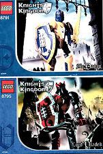 TWO LEGO SETS 8791 & 8795 - SIR DANJU & LORD VLADEK, BOTH COMPLETE