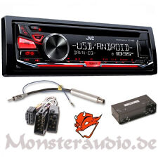 JVC CD MP3 USB Autoradio Radio Adapter für VW Bora Golf 4 IV Lupo Passat 3BG