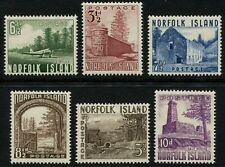 Norfolk Islands Stamps 1953 SG3-18 Set of 6 LMM Cat £38 Fine