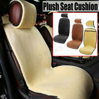 Universal Car Plush Front Seat Cover Soft Cushion Pad Winter Warmer Full Set New