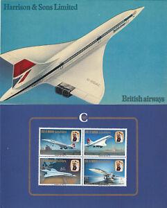 (74980) Bahrain Harrison Concorde 1st Flight London Presentation Folder