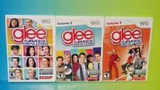 Karaoke Glee Volume 1 2 3 Trilogy- Nintendo Wii Wii U 3 Singing Games Complete