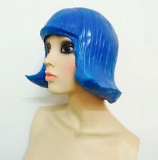 1 Pieces Blue Latex Wigs Headgear Halloween Mask Makeup Prop Cosplay Funny