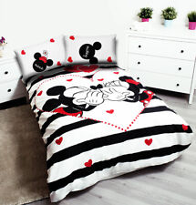Minnie and Mickey Mouse Kiss Bedding Cotton Duvet Cover 140x200 Two Pillow Cases