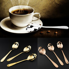 Skull Shape Stainless Steel Coffee Mixing Spoon Tableware Kitchen Hanging Cups