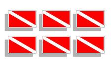 Mini Scuba Dive Sticker Diver Down Diving Flag Car Tag Hat License Plate Decal
