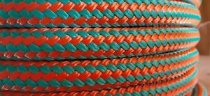 """1/2 """" x 100 ft. Double Braid-Yacht Braid Polyester Rope. US Made"""