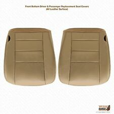 2004 2005 Ford F250 F350 Lariat Driver & Passenger Bottom Leather Seat Cover Tan