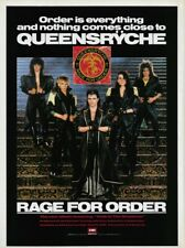 Queensryche Rage For Order 1986 8x11 Promo Poster Ad