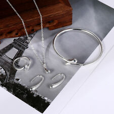 verlobung halskette silber ring öffne es ohrringe träne armband schmuck - set