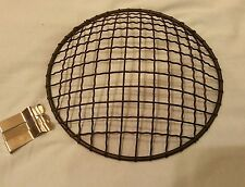 Flat Black 7 inch headlight stone guard mesh grill Bobber Chopper triumph norton