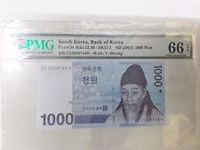 Korea  1000won Banknote 2007 UNC PMG66