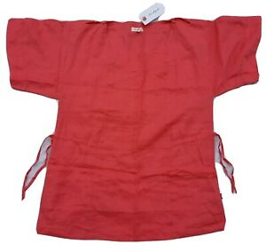 Jackpot Pink Linen Tunic Top, Size 40, BNWT