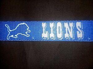 DETROIT LIONS, VINTAGE OOP MADE IN U.S.A. DOG COLLAR or LEASH