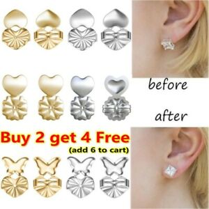 1 Pairs Earring Backs Lifters Earring Lifts Support Adjustable Hypoallergenic