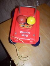 FISHER PRICE BOUNCING BUGGY VINTAGE 1973 PULL TOY 122 LITTLE PEOPLE rare