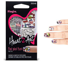 Fingrs tattoos nail art accessories ebay fingrs heart 2 art nail tattoos pow wow bam prinsesfo Image collections