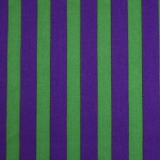 Purple & Green 13 mm Carnival Stripe Polycotton Fabric (Per Metre)