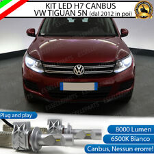 KIT FULL LED VW TIGUAN 5N RESTYLING LED H7 6500K 8000 LM CANBUS NO ERROR