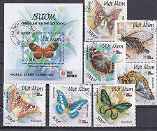 Vietnam 1991 - Block & Sheets - Vlinders / Schmetterlinge / Butterflies