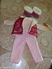 American Girl SKI TRIP OUTFIT Red Vest Boots Pink Shirt Pants RETIRED 2014