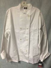 Dickies Unisex Size Med White Chef Classic Coat Dc45 Double Breasted Durable