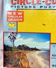 Vintage Fairchild Circle-Cut Circular Picture Puzzle Wooded Point 1545