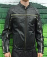 Mens Topman Quality 100% Leather Black Jacket Large Stylish Coat