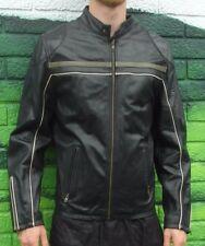 Mens Topman Quality 100% Leather Black Jacket Large Stylish Coat