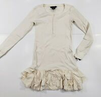 New with tag NWT Girls RALPH LAUREN POLO Cream Long Sleeve Ribbed Dress M L XL