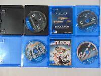 (4) Game Lot of PS4 Games! Battleborn - Destiny -Taken King -The Division