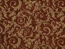 "Chenille Upholstery Saxxon Treasure floral Leaf Drapery home fabric yard 56"""