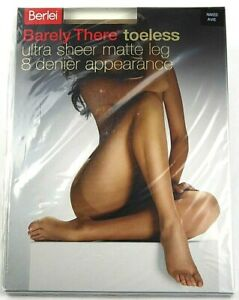 Berlei Pantyhose Stocking Naked Barely There Toeless Sheers 8 Denier H18004 New