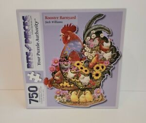Rooster Barnyarn 750 pc Shaped jigsaw puzzle BITS AND PIECES