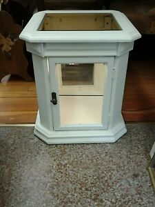 Vintage Weiman Shadow Box End Table Shabby Chic White FREE SHIPPING in U.S