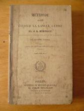J. L. Burnouf, Méthode pour étudier la langue latine