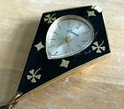 Vintage Endura Lady Enamel Diamond Shape Hand-Wind Necklace Pendant Watch Hours