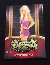 CRYSTAL HEFNER BENCHWARMER HOLLYWOOD SHOW LINGERIE #'d 8/10 - GIRLS NEXT DOOR