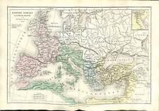 Theodosius I Roman Emperor  ROMAN EMPIRE  MAP CARTE ATLAS 1870