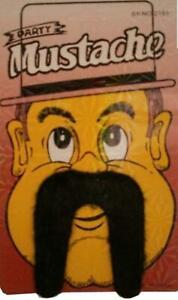Mens Fake Mustaches Adult Boys Fancy Dress Mustaches Tash Fake Mustache