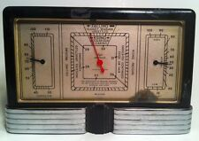 New listing Vintage Taylor Instrument Weather Station Temperature Humity Black & Crome