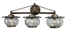 3 Light Vaxcel Jamestown Bathroom Vanity Parisian Bronze Wall Fixture W0018