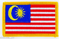 SHIELD PATCH EMBROIDERED FLAG MALAYSIA BADGE FUSIBLE NEW FLAG PATCHED
