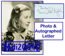 "GENEVIEVE TOBIN Vintage Original DBLWT Photo ""ZAZA"" LAMPARSKI LETTER + Autograph"