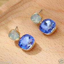 HOTWoman Statement clear crystal Rhinestone long Ear Studs hoop earrings 1012