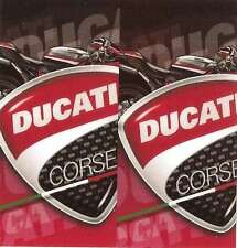 """ DUCATI CORSE "" 68mm x 65mm sticker  pour BIC Lighter"