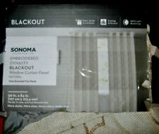 NEW Blackout Sonoma Embroidered Dynasty Natural Curtain Panel 50x84 Grommet