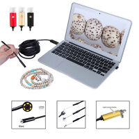 6LED IP67 Endoscope Borescope Snake Inspection Cam Scope For Android OS Windows
